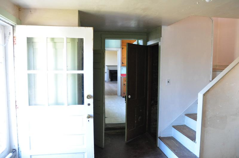 Mudroom, main door into kitchen