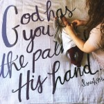 God has you in the palm of His hand modernburlaphellip
