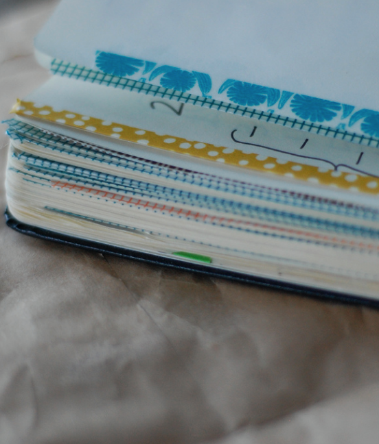 How to use washi tape to come up with an organizational system for your moleskine journal.