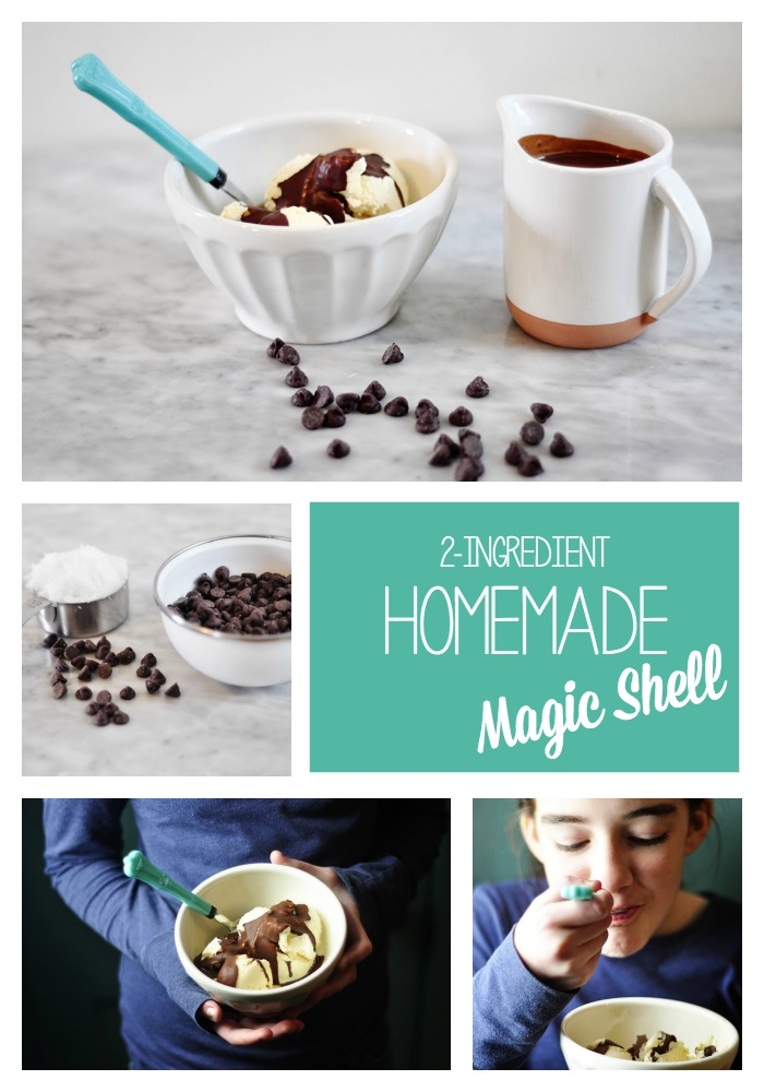 This is the best recipe for homemade magic shell. #magicshell #icecreamtoppings #healthydesserts