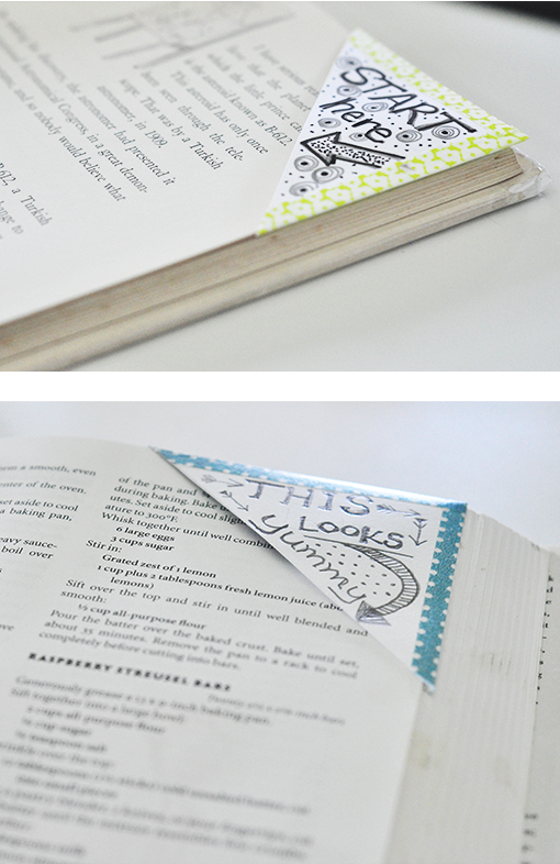 Love this craft idea using washi tape. These bookmarks are so cute.