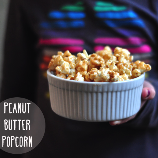 We make this peanut butter popcorn recipe all the time. So good and so easy!