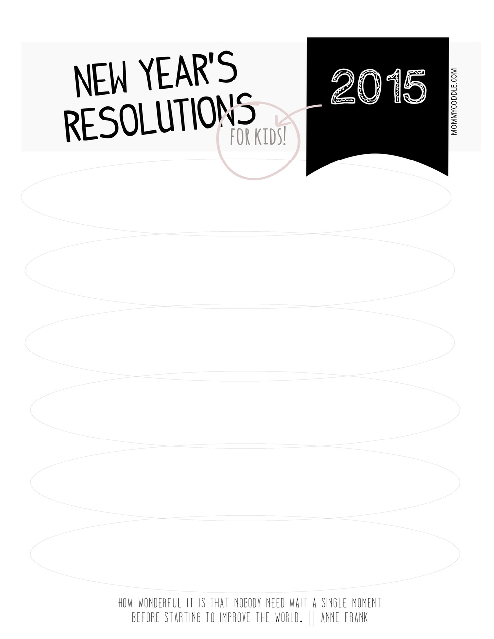 UPDATED: 2015 New Year's Resolutions printable worksheet for kids ...