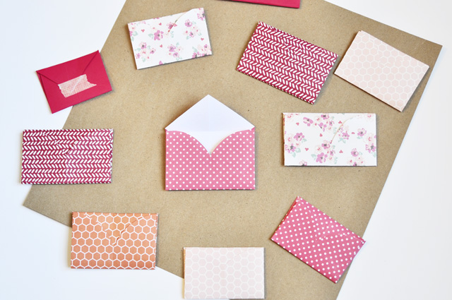 hearts folded into envelopes