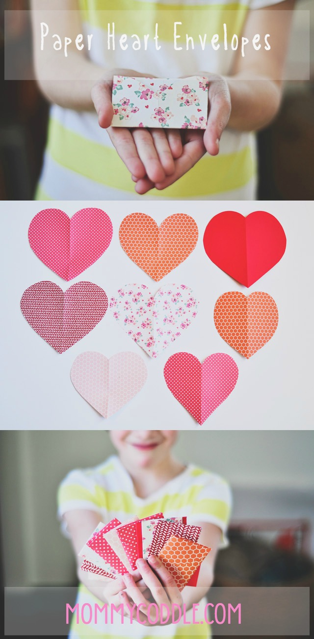 how to fold paper hearts into envelopes