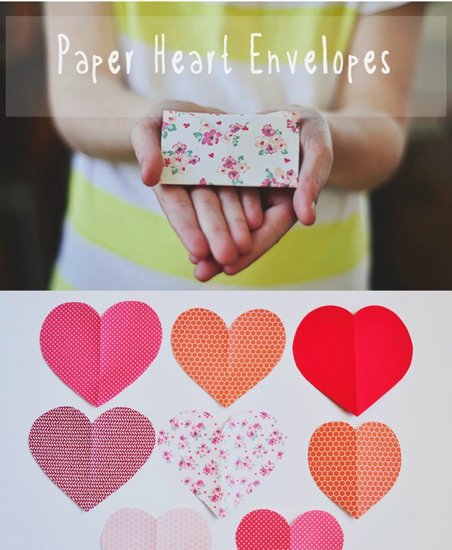 How to turn hearts into tiny folded paper envelopes.