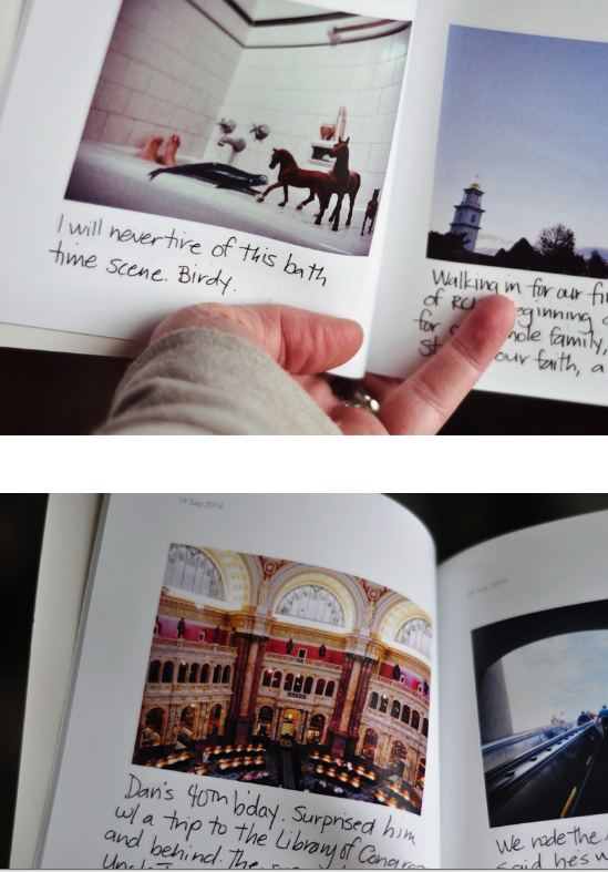 Love how this blogger used her own handwriting in her chatbooks. She printed her Instagram photos and then did all the captions by hand to personalize it. Love this idea. She has a chatbooks coupon code on her blog too.