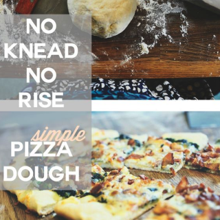 Simple + quick: No knead, no rise pizza dough