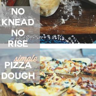 Simple + quick: No knead, no rise pizza dough